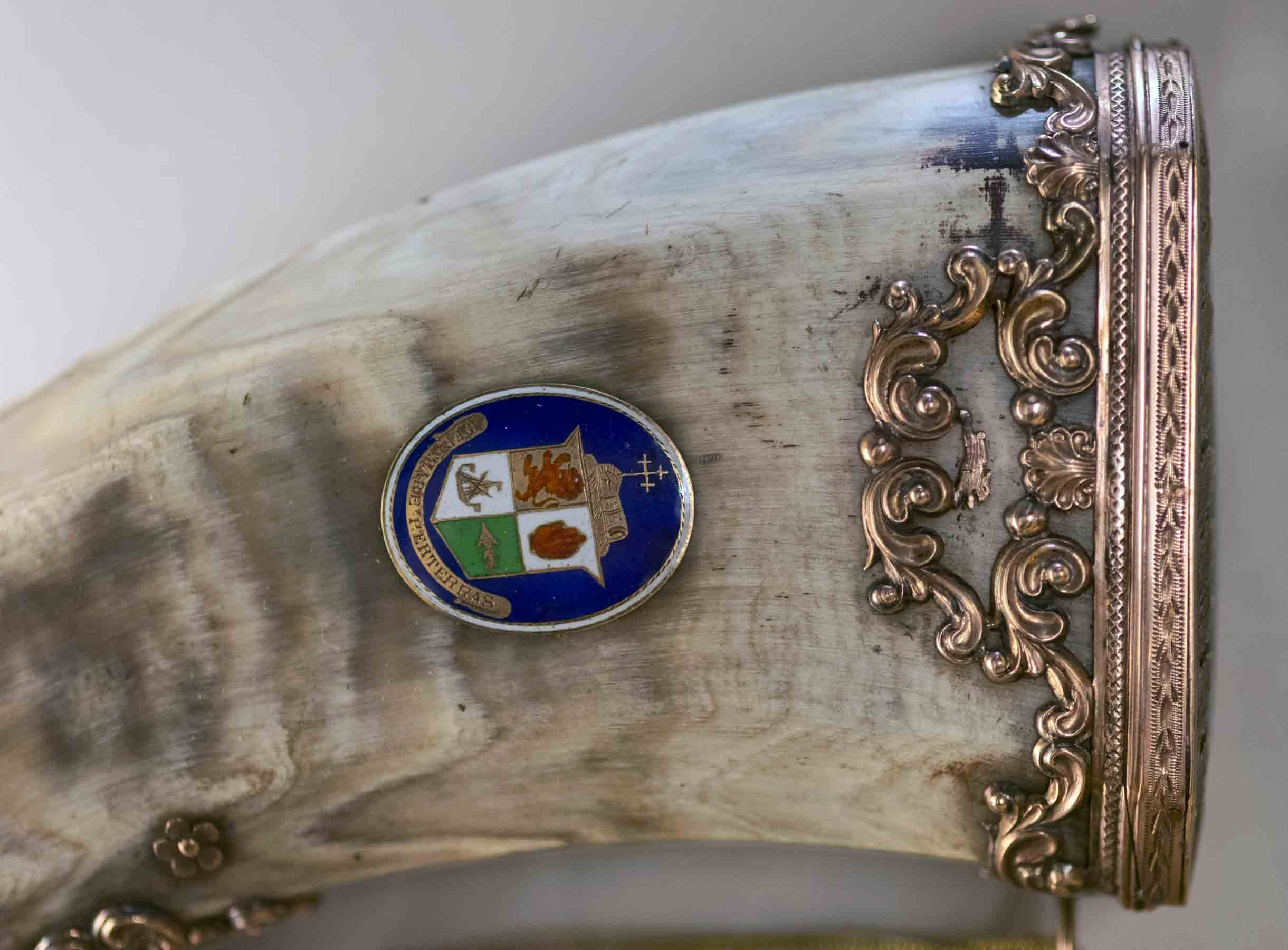 Detail of powder horn made for Col Alasdair Ranaldson MacDonell of Glengarry (1771-1828)