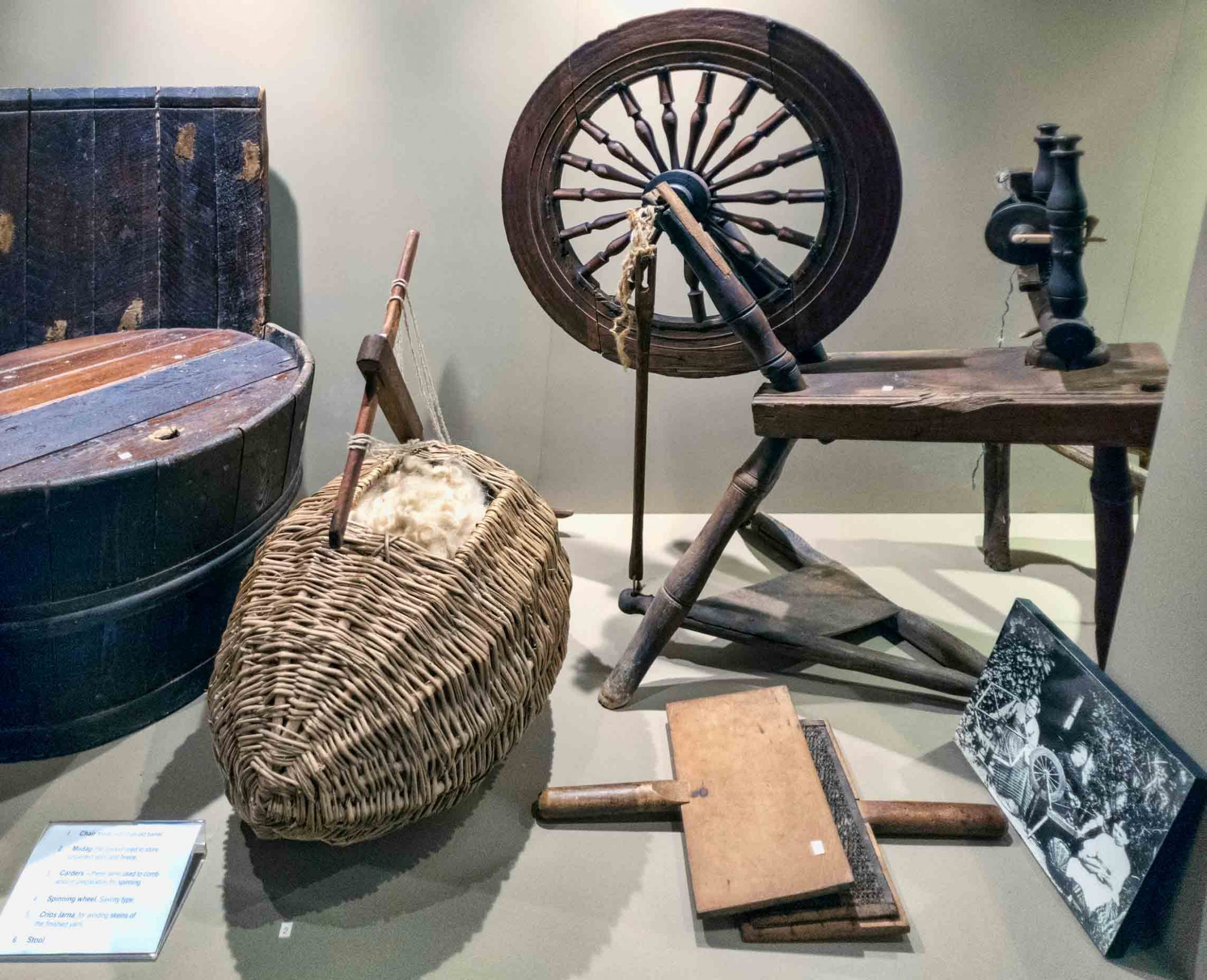 Display of crofting implements