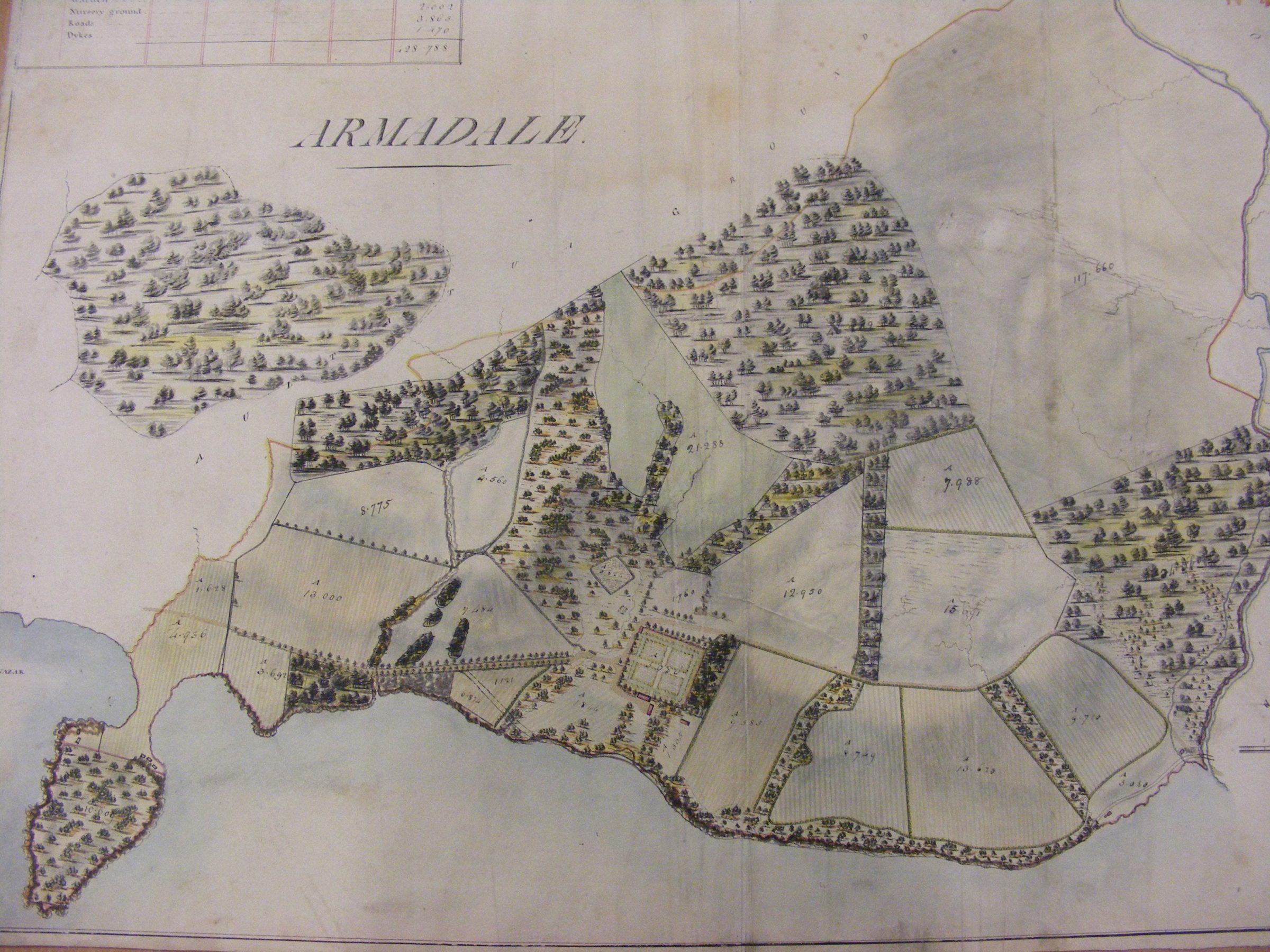 Old Armadale map from the Archive