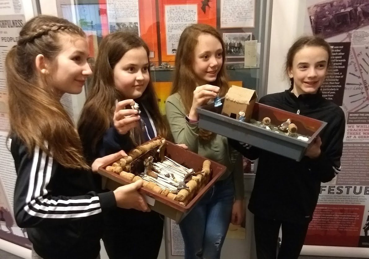 Pupils with models created for the animation