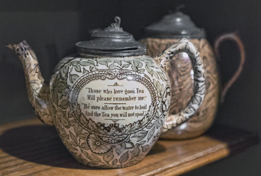 Teapots in crofting display
