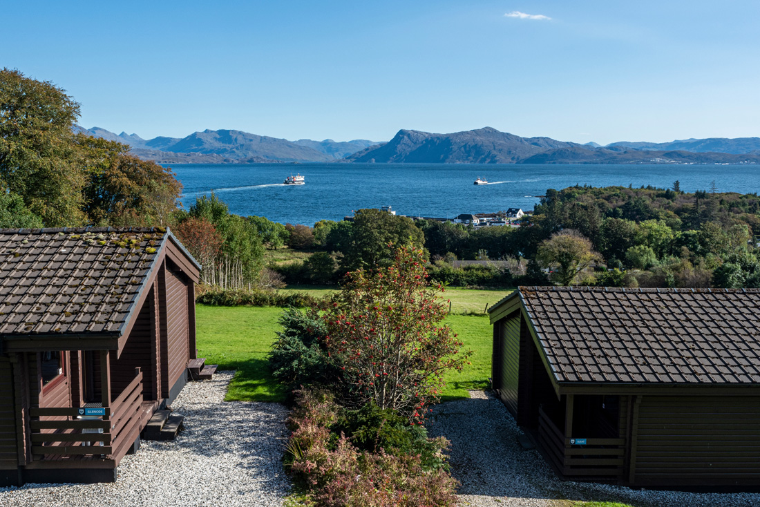 holiday lodges and sea view