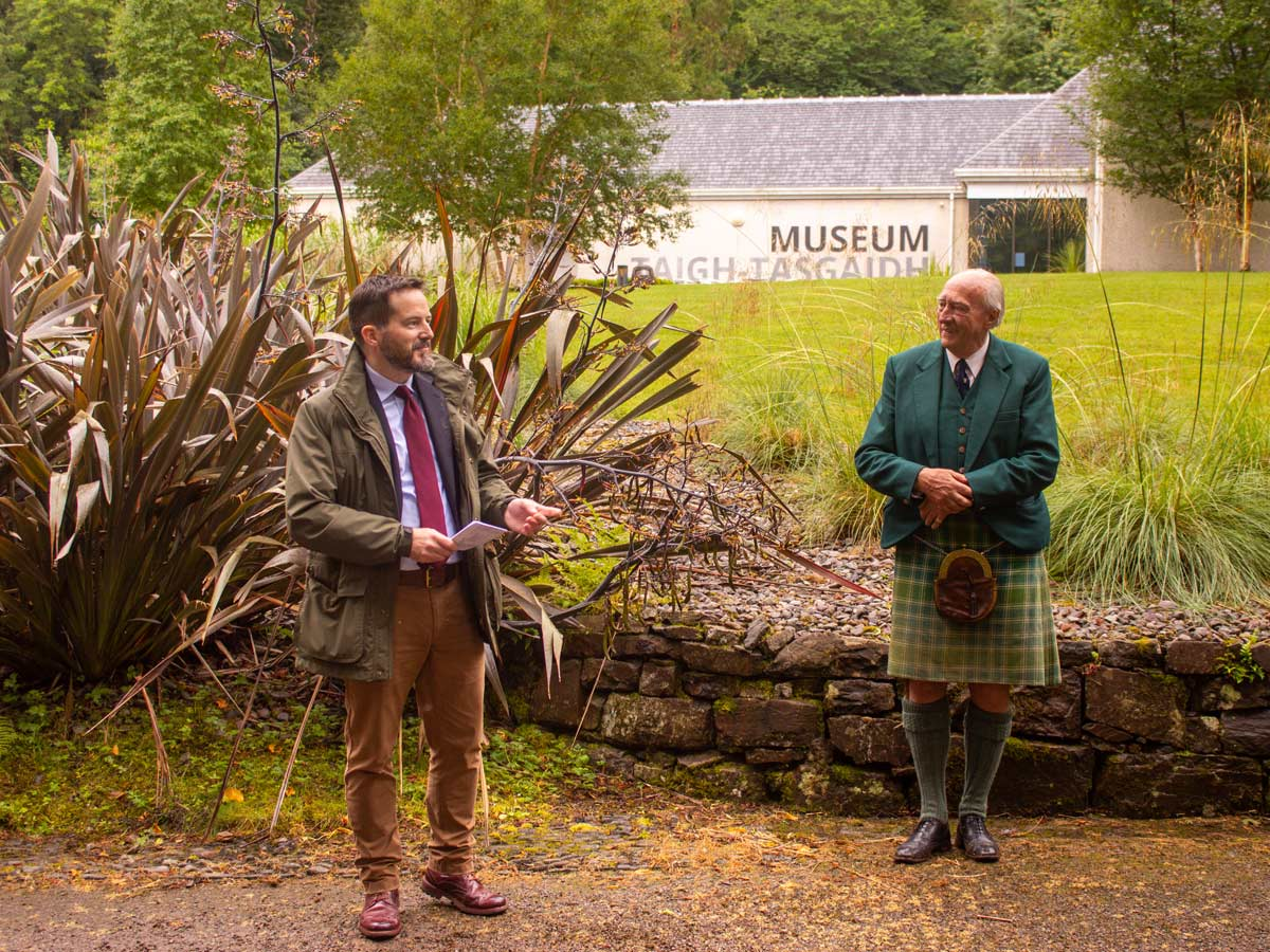 Alex Stoddart and Lord Macdonald launch the anniversary celebrations
