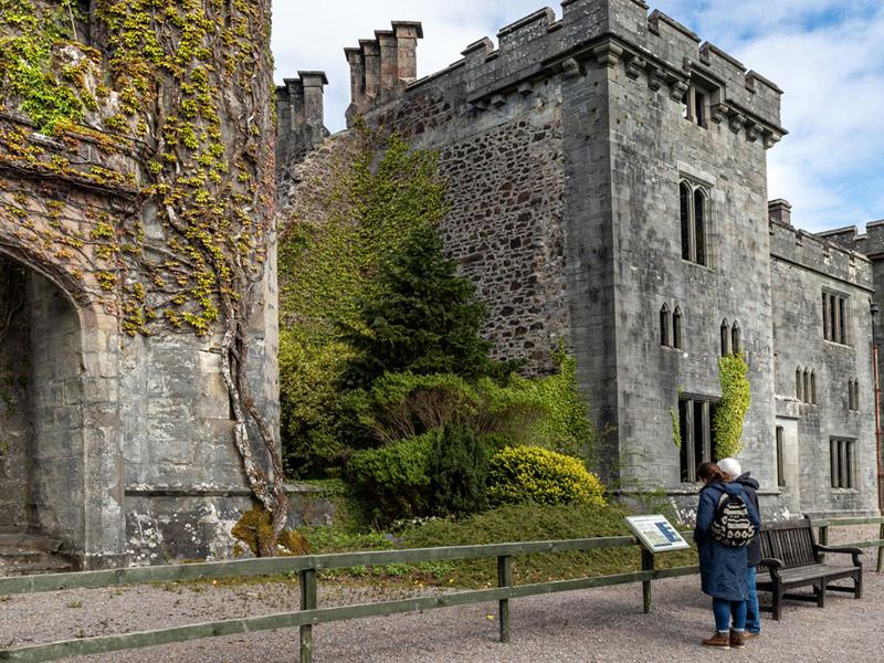 Interpretation boards explain the history of the castle